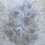 Картины и панно handmade. Livemaster - original item Abstract painting with mother-of-pearl frost pattern