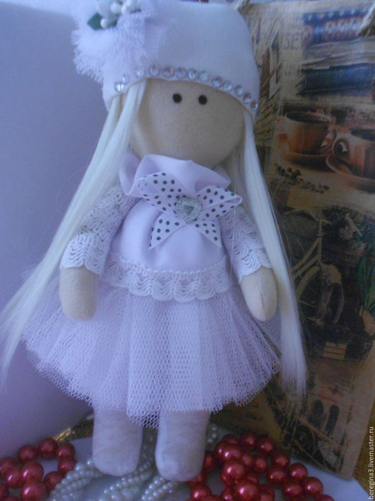 Куклы тыквоголовки ручной работы. Ярмарка Мастеров - ручная работа. Купить Кукла Снежка-Белоснежка. Handmade. Белый, Снежка, большеножка