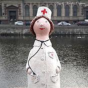 Куклы и игрушки ручной работы. Ярмарка Мастеров - ручная работа Ангел - добрый доктор (папье-маше). Handmade.