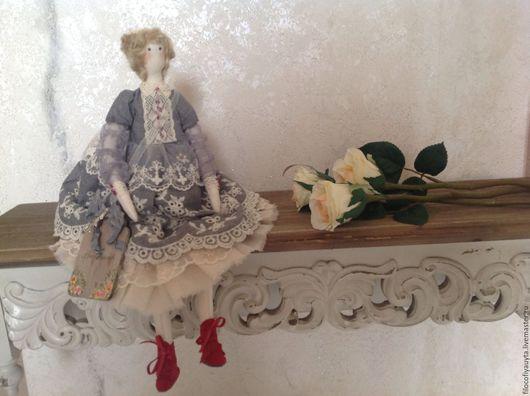 Куклы Тильды ручной работы. Ярмарка Мастеров - ручная работа. Купить Адель интерьерная кукла Тильда. Handmade. Тёмно-синий