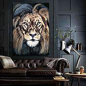 Картины и панно handmade. Livemaster - original item Leo . Brutal Lion. Handmade.