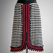 Одежда handmade. Livemaster - original item Tweed skirt Ornella. Elegant handmade tweed houndstooth crochet skirt. Handmade.