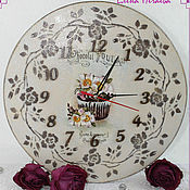 """Для дома и интерьера ручной работы. Ярмарка Мастеров - ручная работа Часы """"Happiness roses"""". Handmade."""
