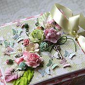 """Открытки ручной работы. Ярмарка Мастеров - ручная работа Коробочка для денег """"Spring"""". Handmade."""