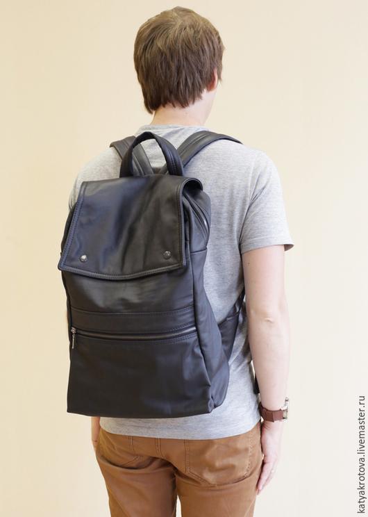 Рюкзаки ручной работы. Ярмарка Мастеров - ручная работа. Купить Рюкзак Дэвид. Handmade. Черный, рюкзак из кожи