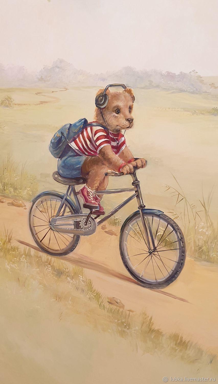 Мишка на велосипеде, Декор, Москва, Фото №1
