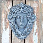 Для дома и интерьера handmade. Livemaster - original item Garden mask of the virgin, facade bas-relief of a mythical face. Handmade.