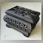 Шкатулки ручной работы. Ярмарка Мастеров - ручная работа Шкатулка деревянная резная. Handmade.