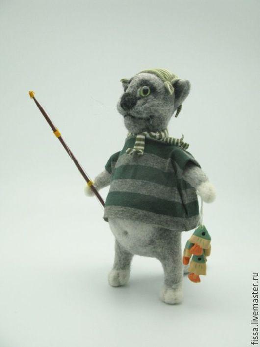 Игрушки животные, ручной работы. Ярмарка Мастеров - ручная работа. Купить Рыбачок. Handmade. Рыбаку, подарок рыбаку, трикотажное полотно