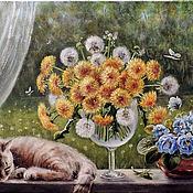 Картины и панно ручной работы. Ярмарка Мастеров - ручная работа Одуванчиковый день. Handmade.
