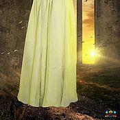 """шелк и хлопок юбка длинная """"Лунный свет"""""""