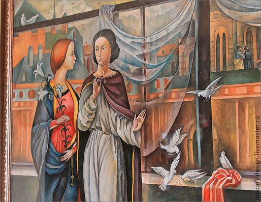 Графическая композиция «Разговор». Символическая картина. Романтическое искусство. Фрагмент.
