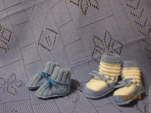 Для новорожденных, ручной работы. Ярмарка Мастеров - ручная работа. Купить плед для новорожденных. Handmade. Голубой, плед в коляску, шерстяной