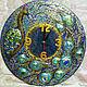"""Часы для дома ручной работы. Ярмарка Мастеров - ручная работа. Купить Часы """"Павлин"""". Handmade. Часы, часы в детскую"""