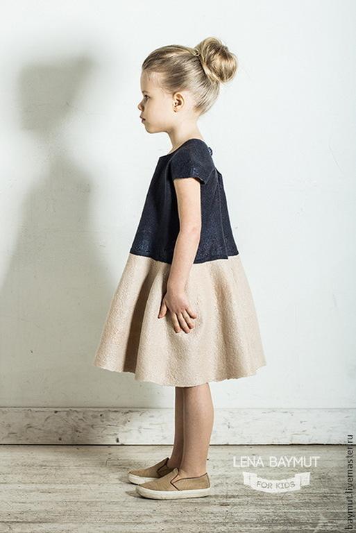 """Валяное платье для девочки """"Grey, Платье, Луганск,  Фото №1"""