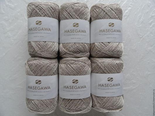 Вязание ручной работы. Ярмарка Мастеров - ручная работа. Купить Пряжа Hasegawa BIBLAND   2 BEIGE. Handmade. Пряжа в мотках