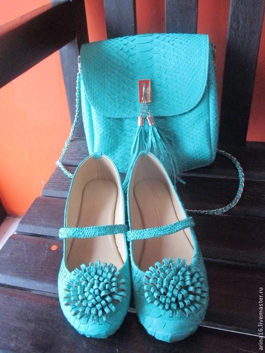 Обувь ручной работы. Ярмарка Мастеров - ручная работа. Купить балетки мятного цвета. Handmade. Мятный, Балетки на заказ, балетки
