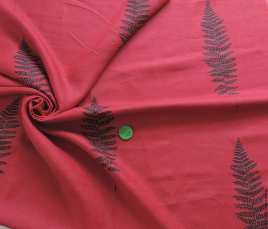 Шитье ручной работы. Ярмарка Мастеров - ручная работа. Купить Ткань лен натуральный Листья Бордо. Handmade. Ткань лен