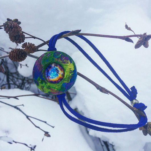 """Браслеты ручной работы. Ярмарка Мастеров - ручная работа. Купить Браслет """"Вселенная"""". Handmade. Браслет, деревянный браслет, украшение"""