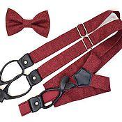 Аксессуары handmade. Livemaster - original item Set bow tie and suspenders buttoned