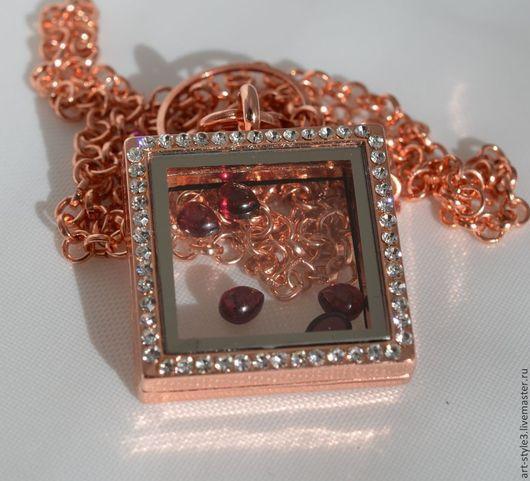 Для украшений ручной работы. Ярмарка Мастеров - ручная работа. Купить Медальон для драгоценных камней, розовое золото. Handmade.