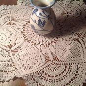 Для дома и интерьера ручной работы. Ярмарка Мастеров - ручная работа Салфетка крючком Аваланж. Handmade.