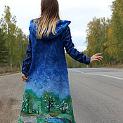 Одежда handmade. Livemaster - original item Felted coat Spring road! sleeveless. Handmade.