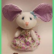 """Мягкие игрушки ручной работы. Ярмарка Мастеров - ручная работа Игрушка """"Мышка с большими ушами"""". Handmade."""