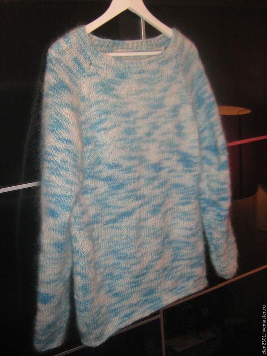 Кофты и свитера ручной работы. Ярмарка Мастеров - ручная работа. Купить мохеровый свитер Север. Handmade. Бирюзовый, джемпер