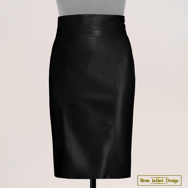 Pencil skirt 'Stylish' made of genuine leather, Skirts, Rodniki,  Фото №1