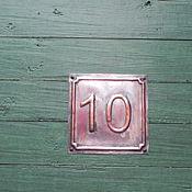 Для дома и интерьера ручной работы. Ярмарка Мастеров - ручная работа Рельефный номер дома 500020. Handmade.