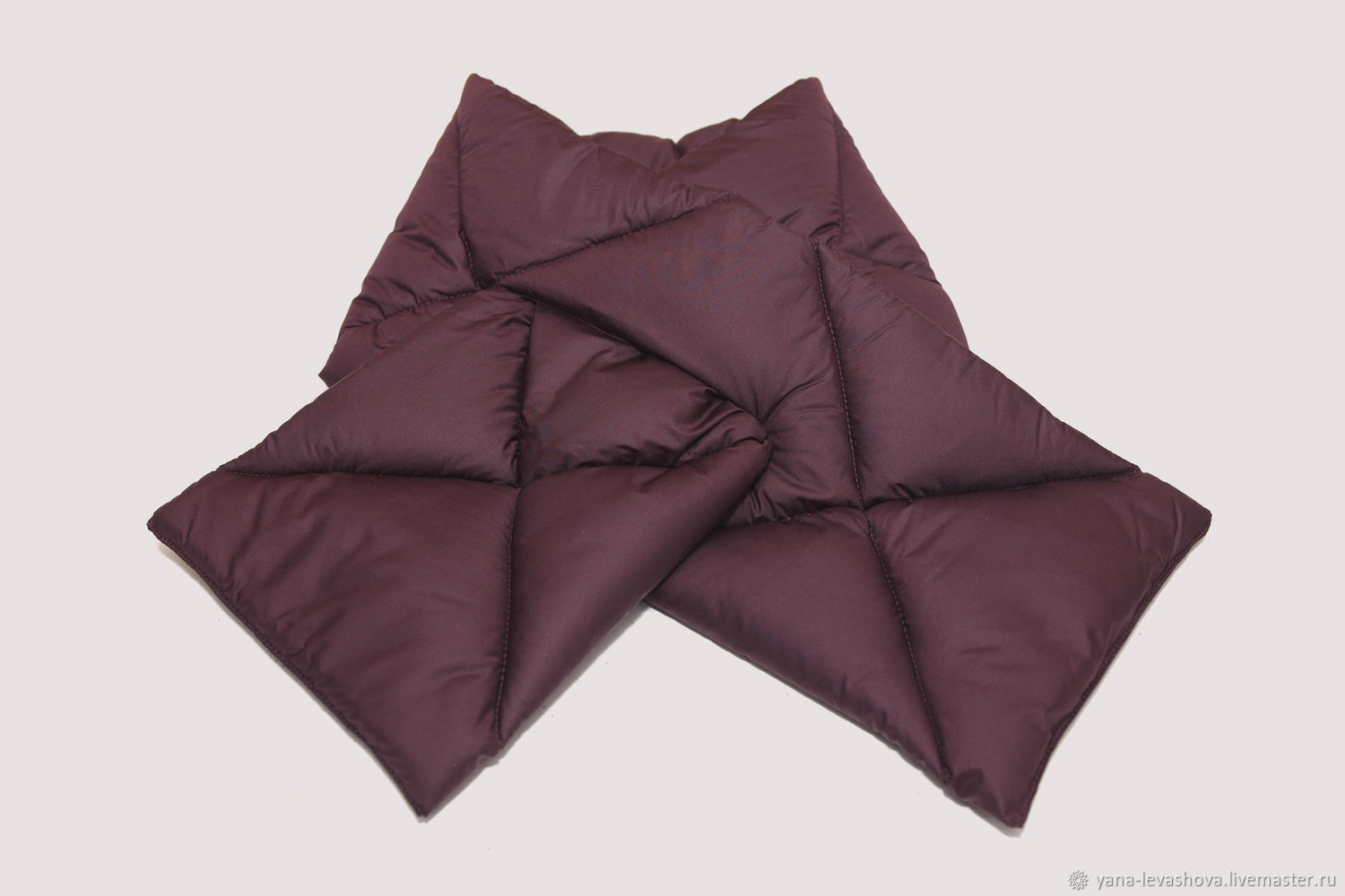 Quilted scarf for women or men made of raincoat, Scarves, Moscow,  Фото №1