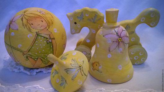 """Подарки для новорожденных, ручной работы. Ярмарка Мастеров - ручная работа. Купить Набор для новорожденного """"Рыбка"""". Handmade. Желтый, подарок на крестины"""