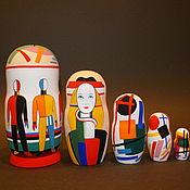 Русский стиль handmade. Livemaster - original item Matryoshka Malevich. Handmade.