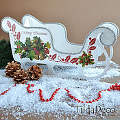 Подарки к праздникам ручной работы. Ярмарка Мастеров - ручная работа Рождественские Сани (большие). Handmade.