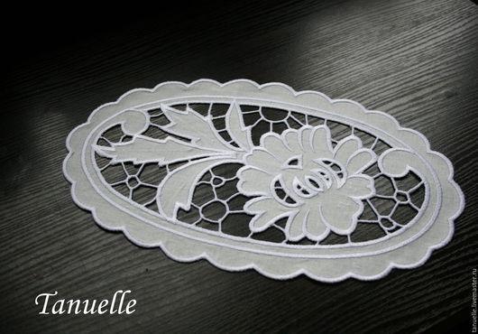 Вышивка ришелье Салфетка с вышивкой ришелье