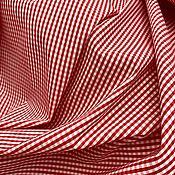 Ткани ручной работы. Ярмарка Мастеров - ручная работа Рубашечный хлопок в клетку ВИШИ. Артикул: LM1904001. Handmade.