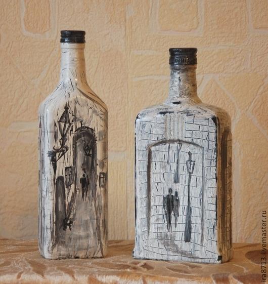Вазы ручной работы. Ярмарка Мастеров - ручная работа. Купить Бутылки декоративные. Handmade. Бутылка, лак акриловый