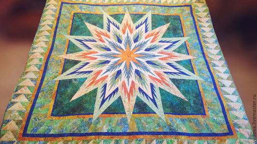 Текстиль, ковры ручной работы. Ярмарка Мастеров - ручная работа. Купить Одеяло « ЗВЕЗДА ДЛЯ ЗВЕЗДЫ». Handmade. Разноцветный