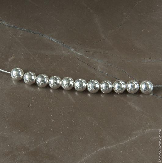 Для украшений ручной работы. Ярмарка Мастеров - ручная работа. Купить Бусины серебряные круглые мелкие 3 мм. Handmade.