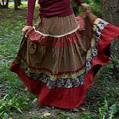 """Одежда ручной работы. Ярмарка Мастеров - ручная работа Вельветовая юбка """"Красная ягода"""". Handmade."""