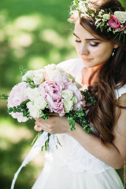 """Букеты ручной работы. Ярмарка Мастеров - ручная работа. Купить Свадьба для двоих """"Магия нежности"""". Handmade. Бледно-розовый, фотоальбом"""