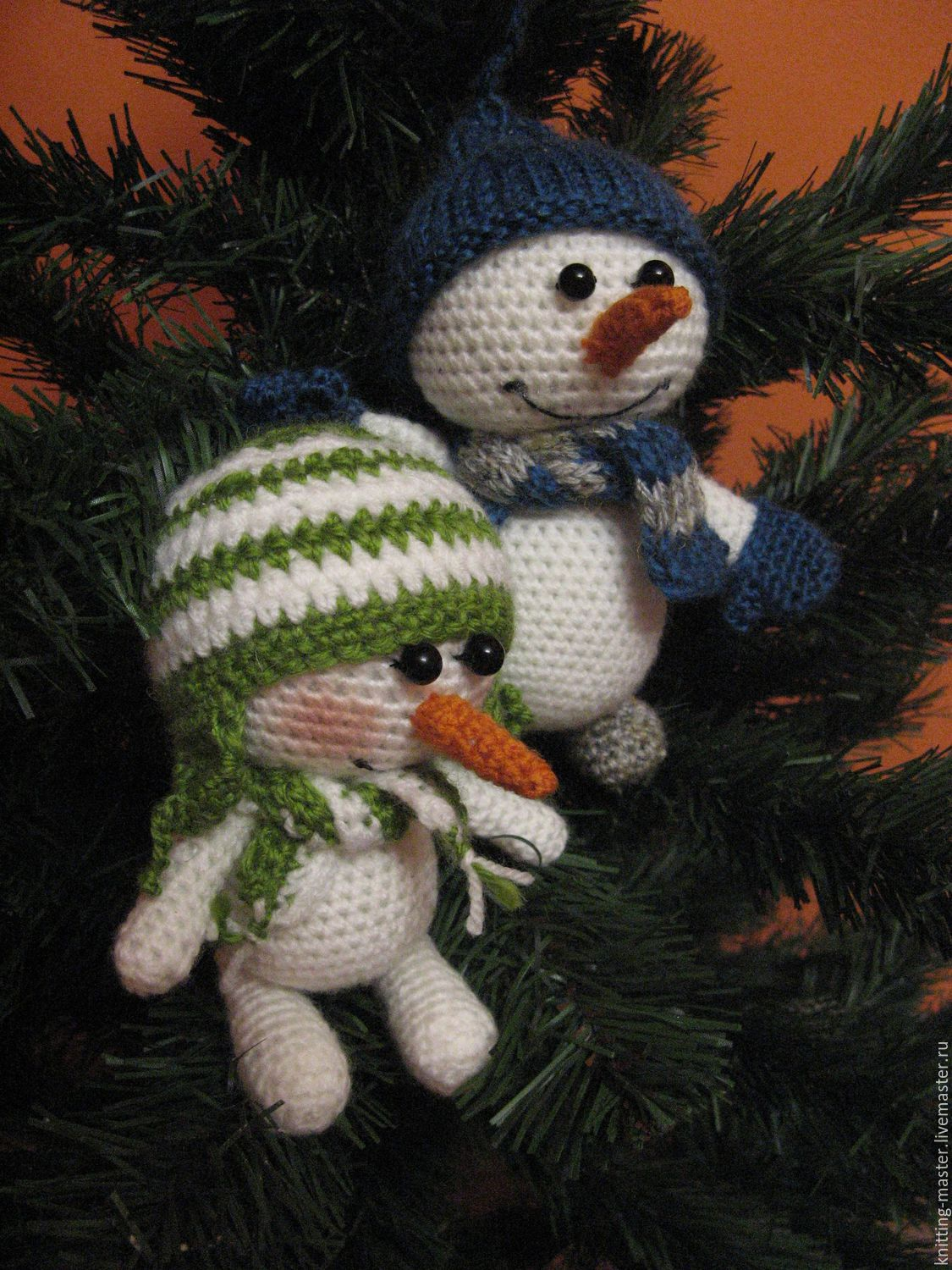 Knitted toy Snowman amigurumi, Toys, Tula, Фото №1
