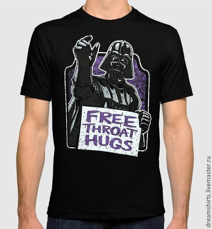 "Футболка с принтом ""Дарт Вейдер - Free Throat Hugs"", T-shirts, Moscow,  Фото №1"
