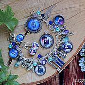 Украшения handmade. Livemaster - original item Jewelry set, Doctor who TARDIS doctor who blue box gift. Handmade.