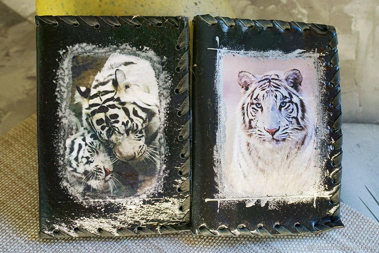 Passport cover White tigers, Passport cover, Chelyabinsk,  Фото №1