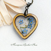 Украшения handmade. Livemaster - original item The pendant is made of resin with real flowers
