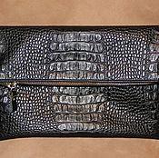 Сумки и аксессуары handmade. Livemaster - original item Clutch bag unisex genuine leather and suede. Handmade.