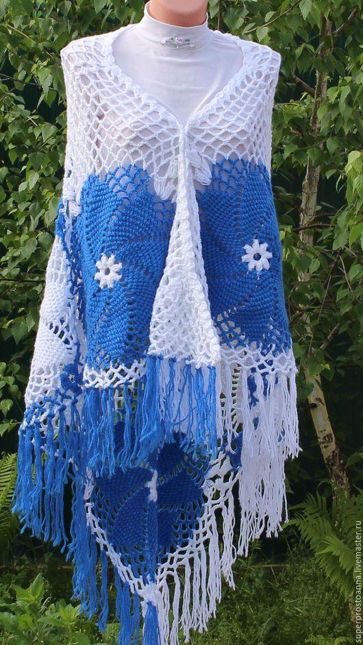 Шали, палантины ручной работы. Ярмарка Мастеров - ручная работа. Купить шаль вязаная крючком шаль ажурная. Handmade.