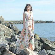 Одежда ручной работы. Ярмарка Мастеров - ручная работа Длинное летнее платье. Handmade.